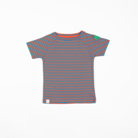 Alba of Denmark - Sigurd T-Shirt Orange.Com Magic Stripes