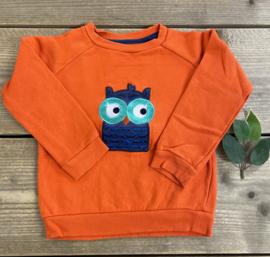 Lily Balou - Orange Owl Mika Sweater 92/98