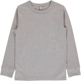 Maxomorra - Top Long Sleeve Light Grey Melange