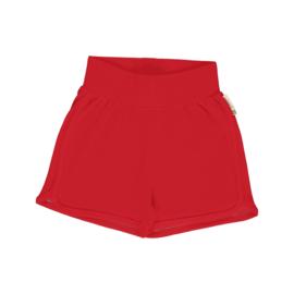 Maxomorra - Runner Shorts Solid Ruby