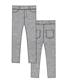Maxomorra - Treggings Sweat Light Grey Melange