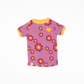 Alba of Denmark - Bella T-Shirt Bordeaux Flower Power Love