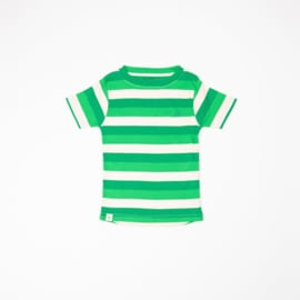 Alba Of Denmark - The Bell T-Shirt Kelly Green Stripes