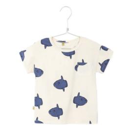 Lötiekids - T-Shirt Shortsleeved Moonfishes Off White
