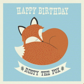 Rex London - Rusty the Fox Birthday Card