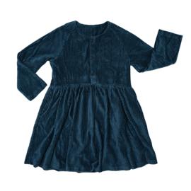 Carlijn Q - Corduroy Dress with 3 Buttons Teal