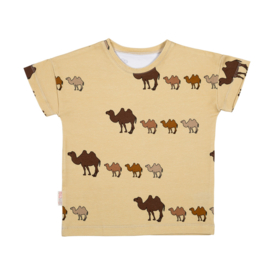 Malinami - T-Shirt Camel on Beige