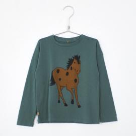 Lötiekids - Longsleeve Horse Green