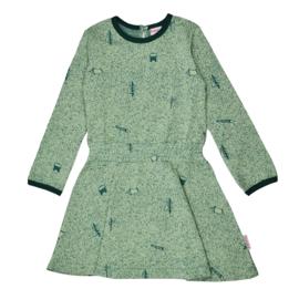Baba - Smock Dress Nature Green