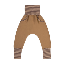 Malinami - Baggy with Pockets Camel/Brown Stripes