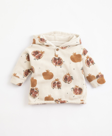 Play Up - Hooded Cotton Jersey Miro Pomegranate