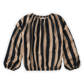 Sproet & Sprout Capsule - Blouse Painted Stripe Sesame