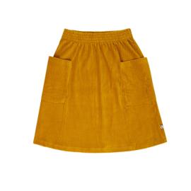 Carlijn Q - Corduroy Skirt with Pockets Yellow