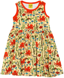 Duns Sweden - ADULT SS Yellow Octopuss Gather dress