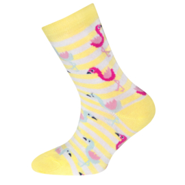 Ewers - Socken Flamingos Hellgelb