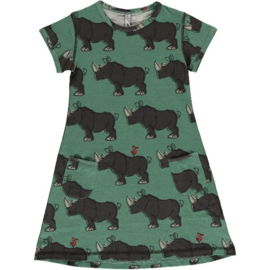 Maxomorra - Dress Short Sleeve Rhino