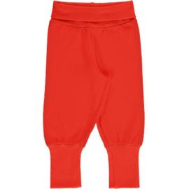 Maxomorra - Pants Rib Solid Ruby