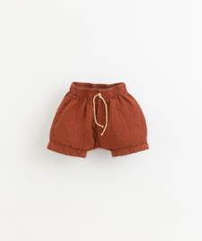 Play Up - Linen Shorts with Double Hem Farm