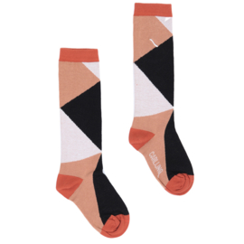 CarlijnQ - Knee Socks Color Blocks Black/Brown