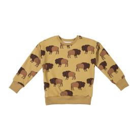 Malinami - Sweatshirt Bison on Mustard