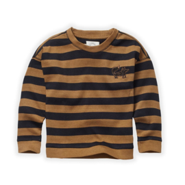 Sproet&Sprout - Sweatshirt Stripe Mustard/Black