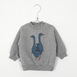 Lötiekids - Baby Sweatshirt Mss.&Mr. Goose Grey Melange