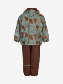 Celavi - Rainwear Set Solid fleece Slate Grey Bear