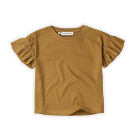 Sproet&Sprout - T-Shirt Rib Ruffle Camel