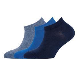 Ewers - Sneaker 3-Pack Uni Jeans Melange/Aqua/Navy