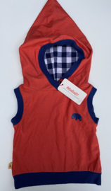Alba - Bi Hood Waistcoat Red