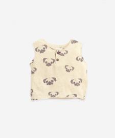 Play Up - Sleeveless T-Shirt with Opening Pug Mushroom