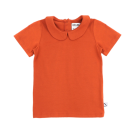 CarlijnQ - Basic T-Shirt Collar Cinnamon