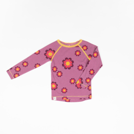 Alba of Denmark - Ghita Blouse Bordeaux Flower Power Love
