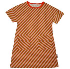 Baba Kidswear - T-Shirt Dress Diagonal Pink