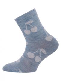 Ewers - Socken Glitzer Kirsch Blau Melange