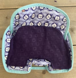 Close - Car Seat Protector Purple Lion