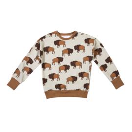 Malinami - Sweatshirt Bison on Dusty Ecru