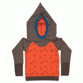 Alba - Habian Hood Blouse Rust Triangle