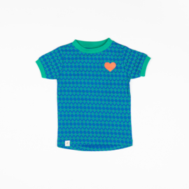 Alba of Denmark - Bella T-Shirt Snorkel Blue Flower Hearts