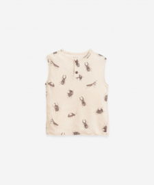 Play Up - T-Shirt in Organic Cotton and Linen Beetle Mushroom