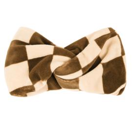Carlijn Q - Twisted Headband Velvet Checkers