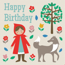 Rex London - Red Riding Hood Birthday Card