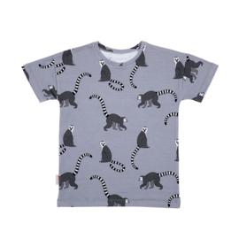 Malinami - T-Shirt Lemur on Light Grey