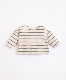 Play Up - Striped Jersey with Shoulder Opening Miro