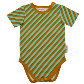 Baba Kidswear - Body Short Sleeve Diagonal Blue