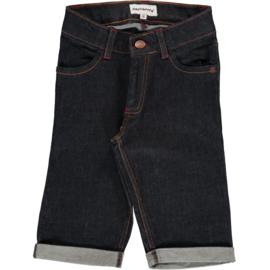 Maxomorra - Pants Knee Denim Dark Blue Washed