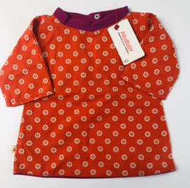 Alba - Caro Tunic Red with Flowers