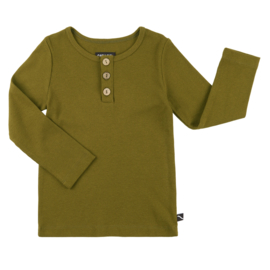 Carlijn Q - Longsleeve with 3 Buttons Ribbed Green