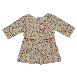 Baba - Baby Collar Dress Rabbit and Squirrel