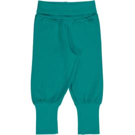 Maxomorra - Pants Rib Solid Lagoon